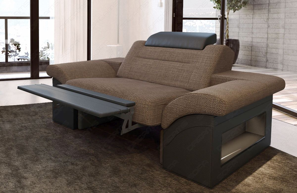 Sofa polsterstoff sessel monza 1 sitzer luxus stoff tv for Sofa 4 sitzer stoff