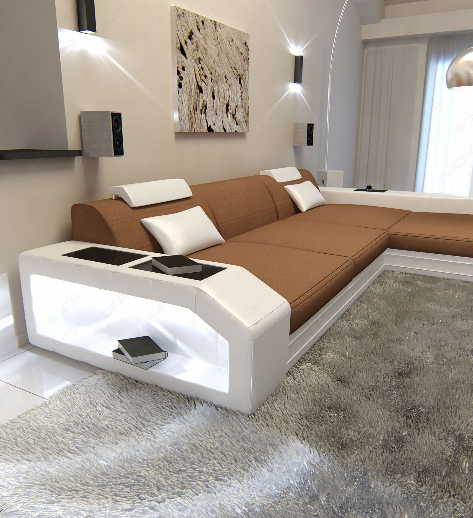 sofa l form mit latest ledercouch apollonia l form mit led und usb rotweiss with sofa l form. Black Bedroom Furniture Sets. Home Design Ideas