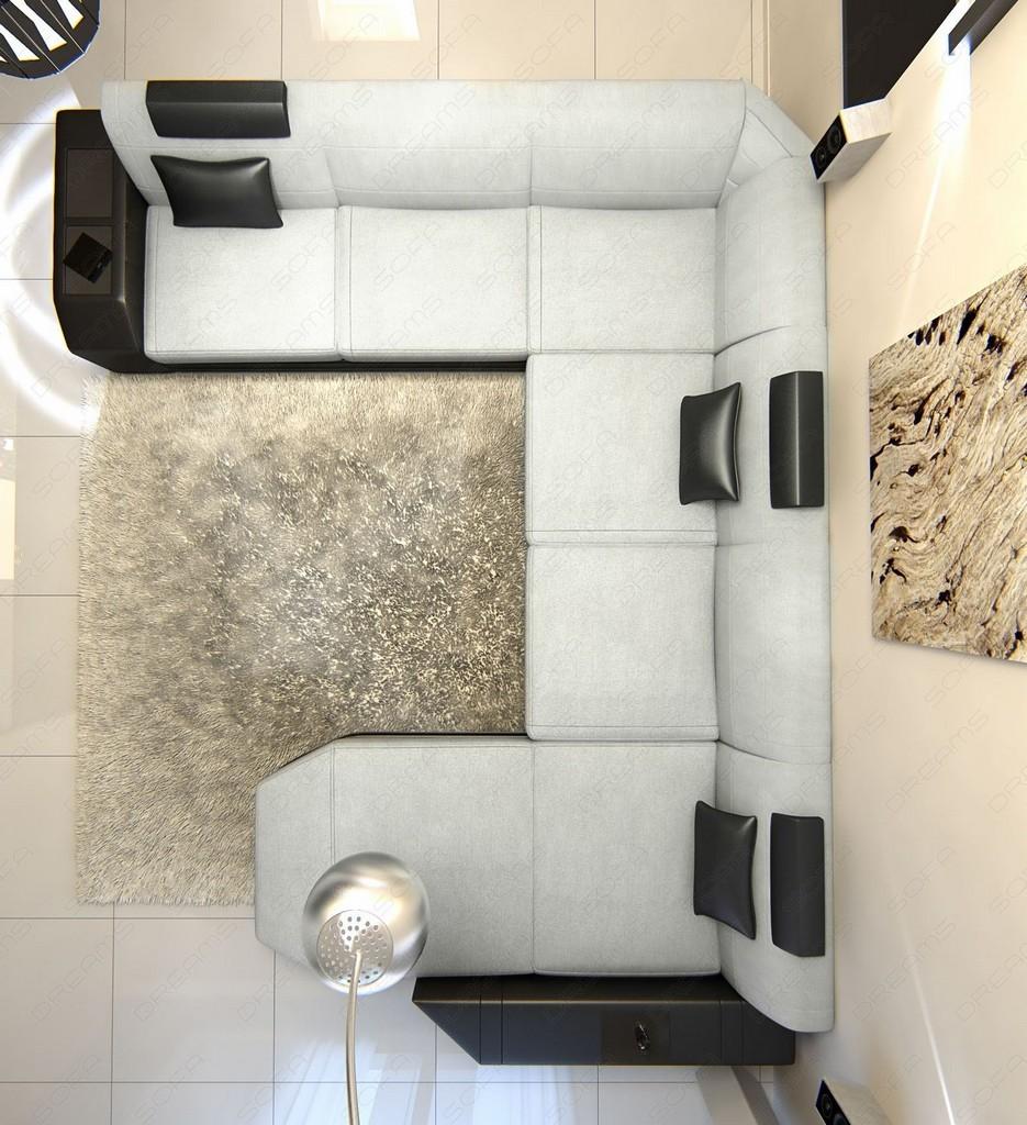 fabric livingroom landscape prato xxl materialmix black. Black Bedroom Furniture Sets. Home Design Ideas