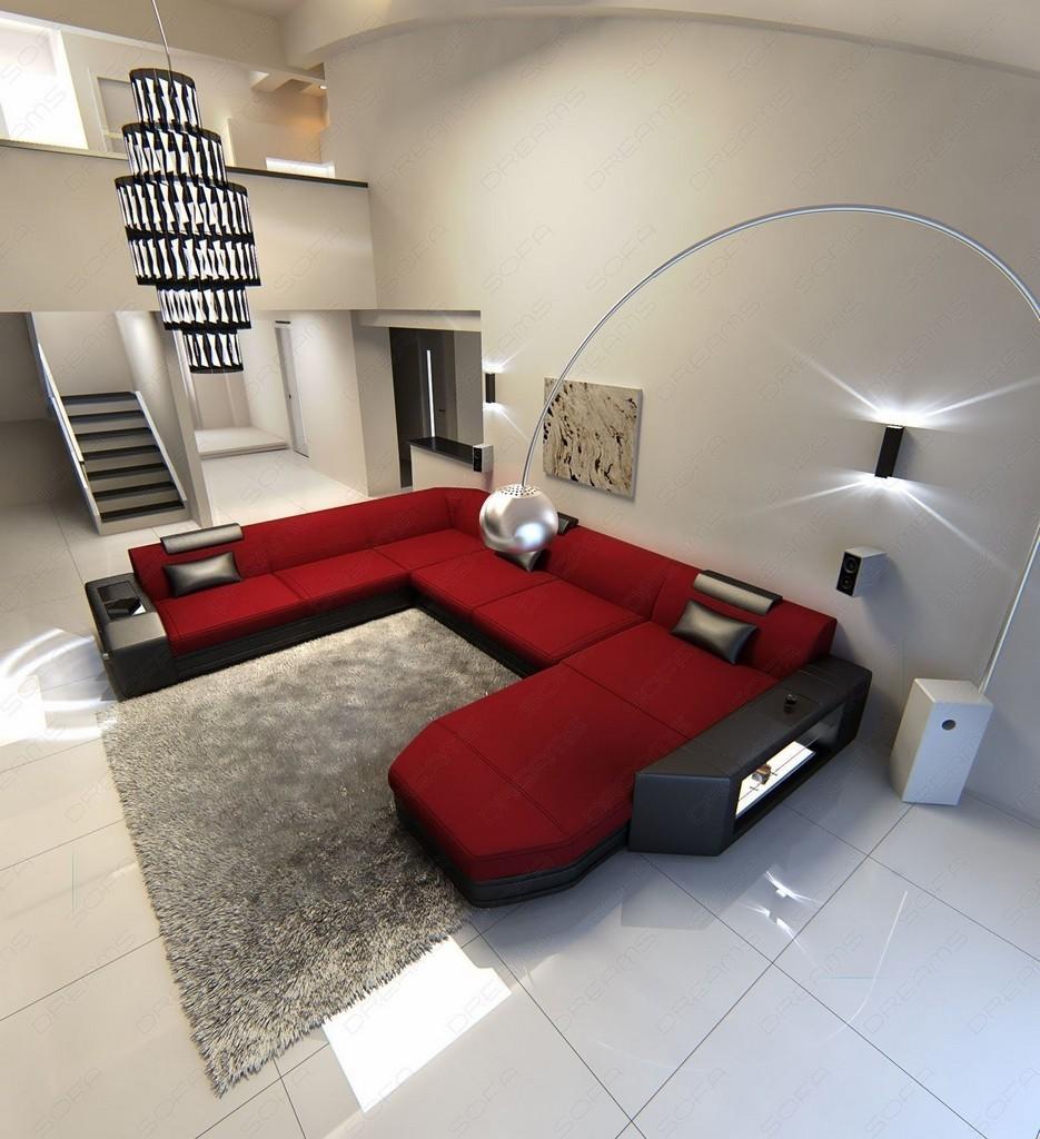 divano rosso angolare idee per il design della casa. Black Bedroom Furniture Sets. Home Design Ideas