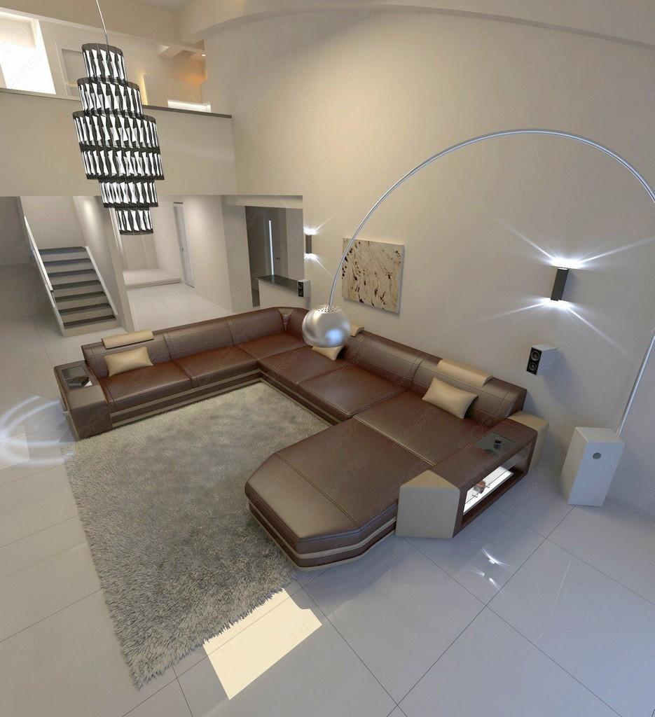 Eckcouch wohnlandschaft luxus couch sofagarnitur federkern for Lampen xxl mann mobilia
