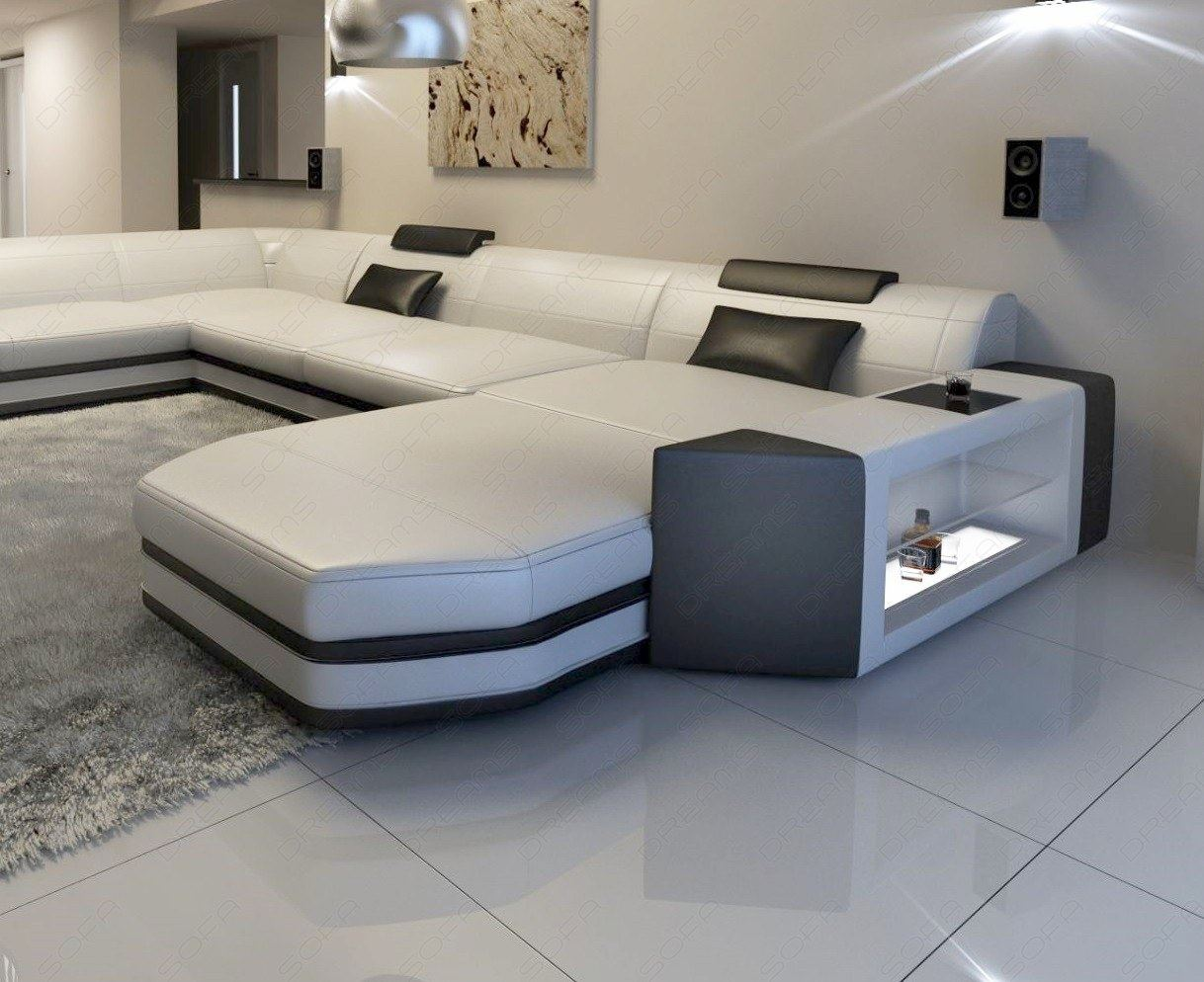 Big Leather Sofa Presto U Shaped Illuminated Sectional Sofa Led Ebay