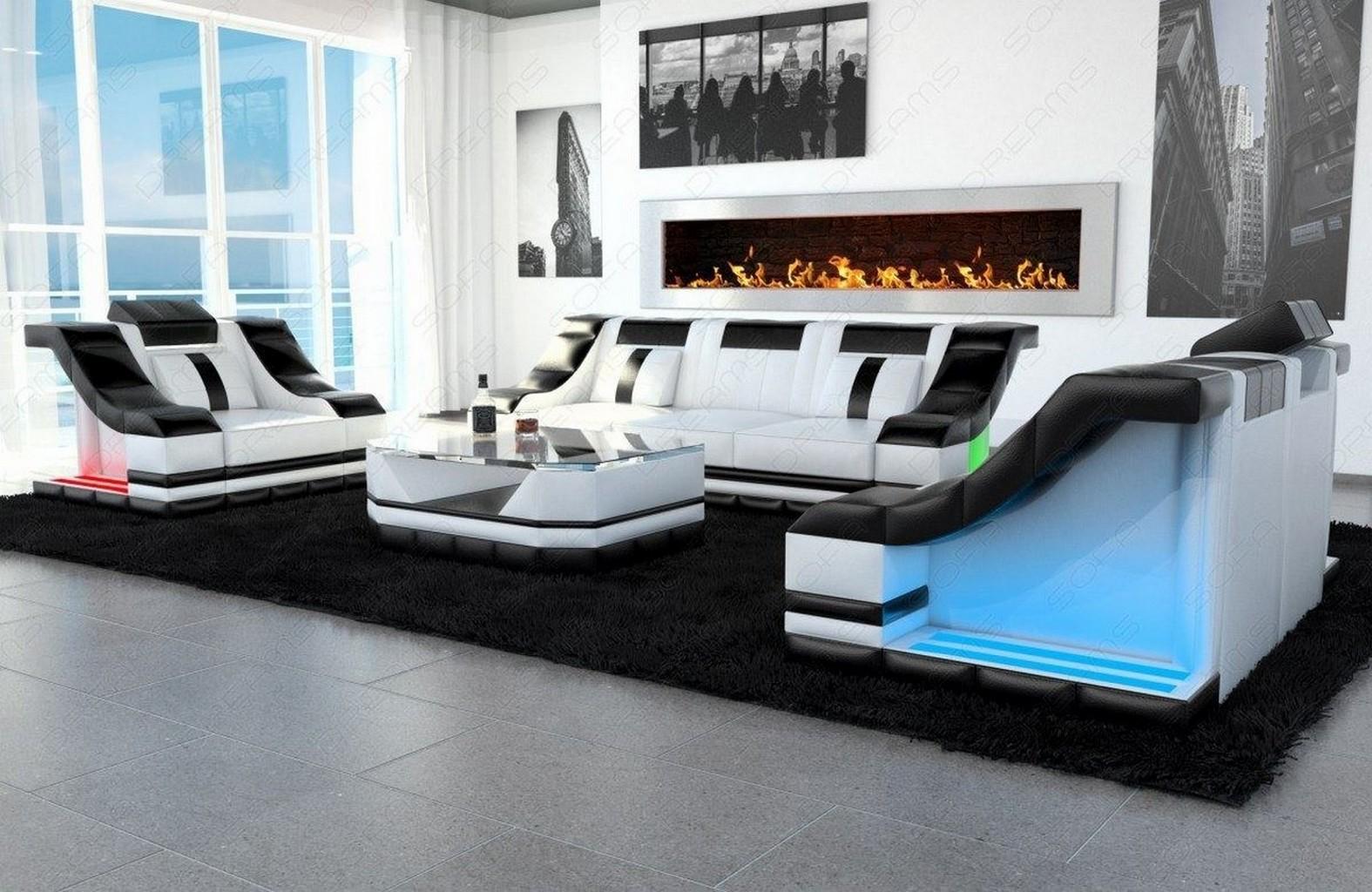 designer couch couchgarnitur leder luxus sofa 3er 2er. Black Bedroom Furniture Sets. Home Design Ideas