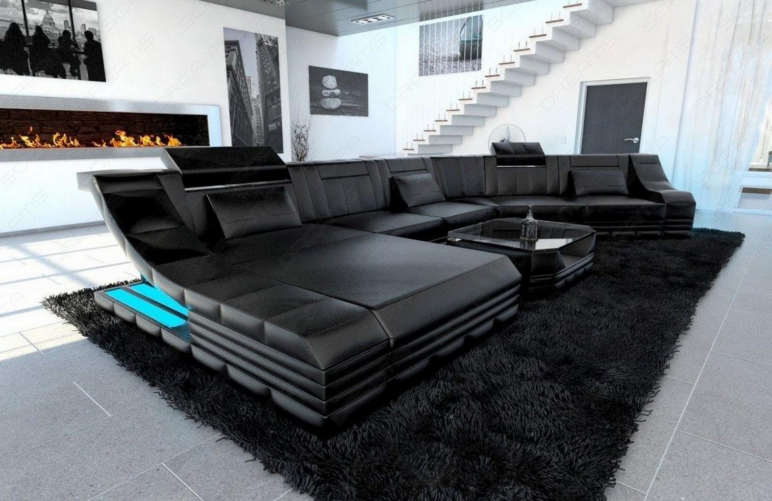 Luxus Wohnlandschaft Designer Couch Turino Cl Led Beleuchtung