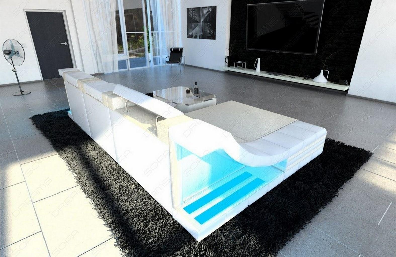 elegantes ecksofa mit led beleuchtung fotos erindzain. Black Bedroom Furniture Sets. Home Design Ideas