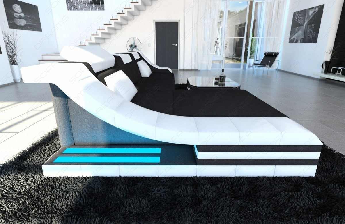 sectional fabric sofa turino l shaped couch with led lights colour selection. Black Bedroom Furniture Sets. Home Design Ideas