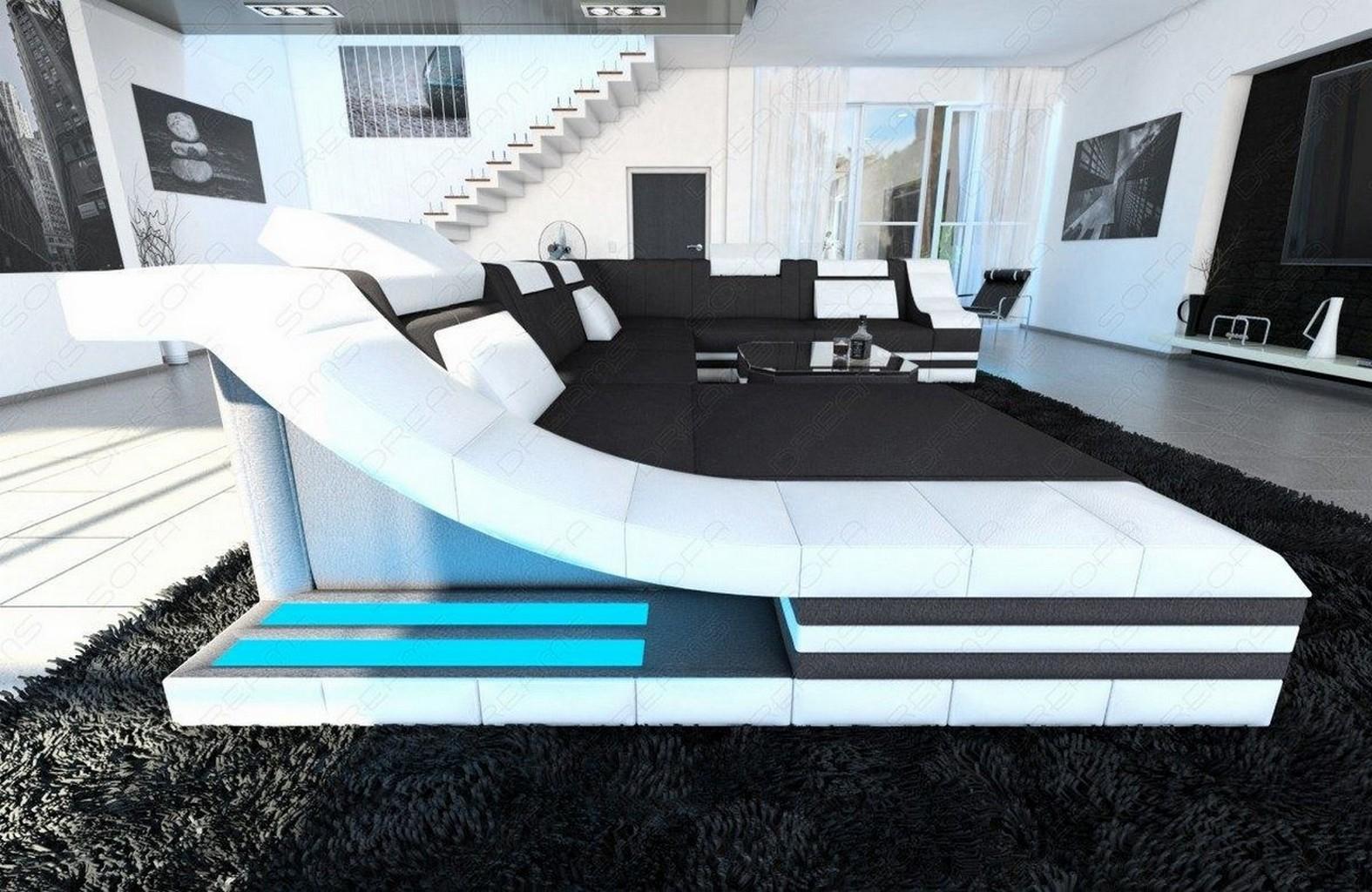 Stoffsofa turino xxl design couch wohnlandschaft for Sofa dunkelgrau