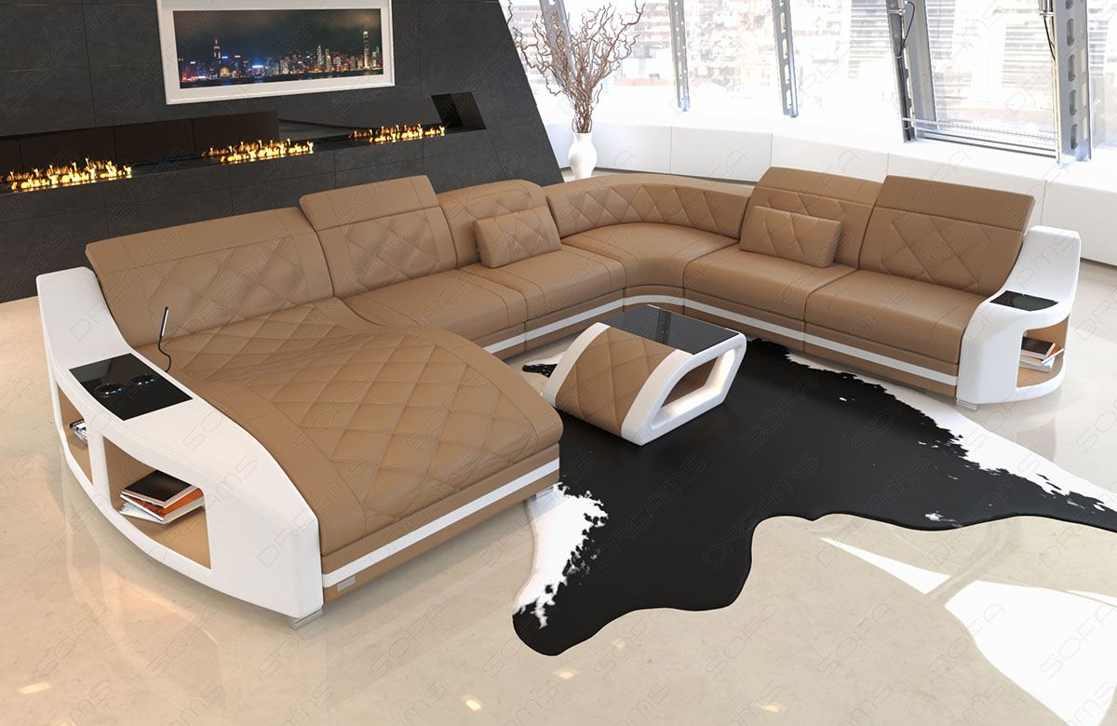 Sofa Couch Wohnlandschaft Swing Xxl Designer Couch Ottomane Led