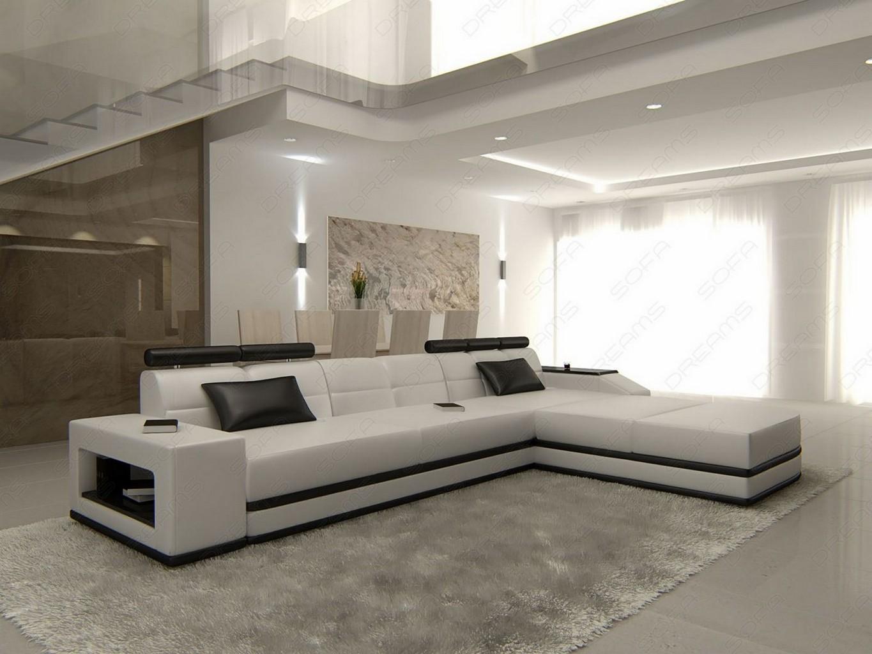 ledersofa venedig l form designersofa beleuchtung. Black Bedroom Furniture Sets. Home Design Ideas