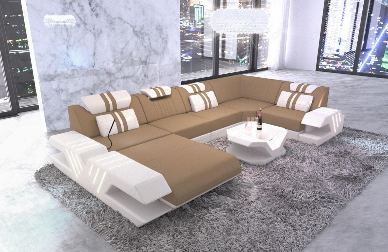 stoff sofa wohnlandschaft design polstercouch venedig u. Black Bedroom Furniture Sets. Home Design Ideas