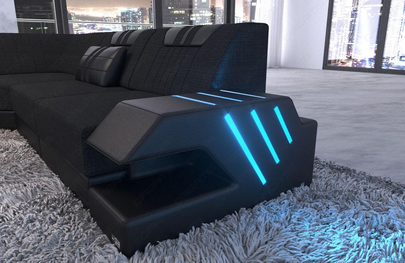 Design stoff wohnlandschaft polstersofa venedig xxl for Sofa webstoff