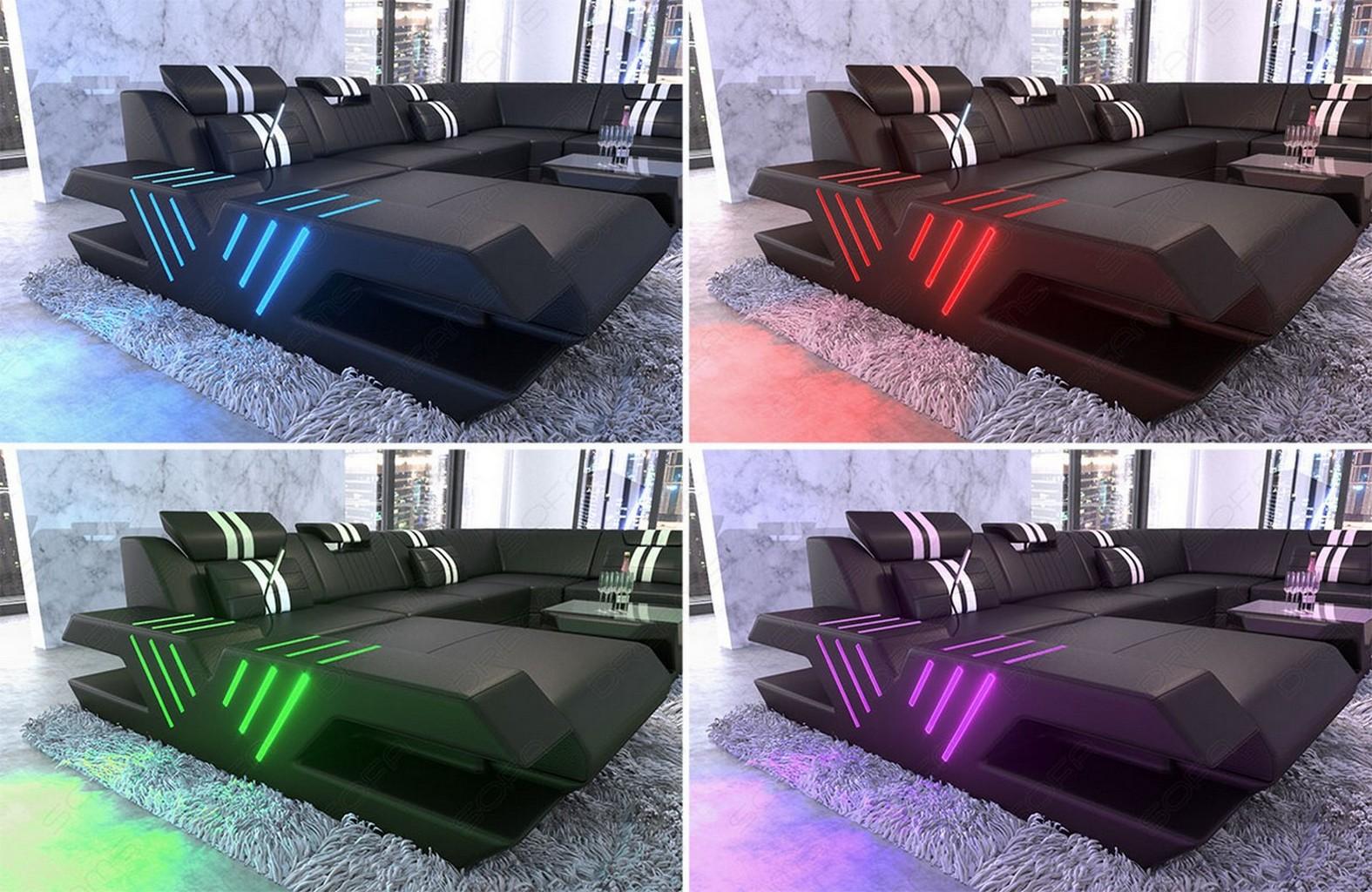 led beleuchtung f r sofas. Black Bedroom Furniture Sets. Home Design Ideas