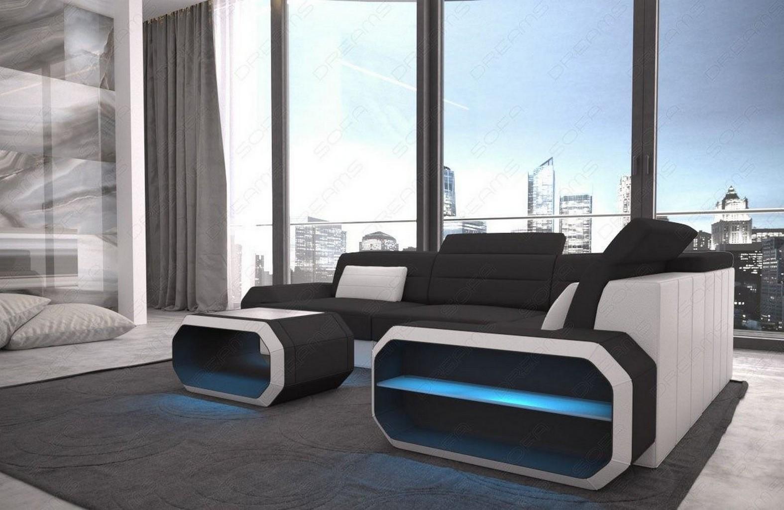 luxus design ecksofa stoff couch verona l form ottomane. Black Bedroom Furniture Sets. Home Design Ideas