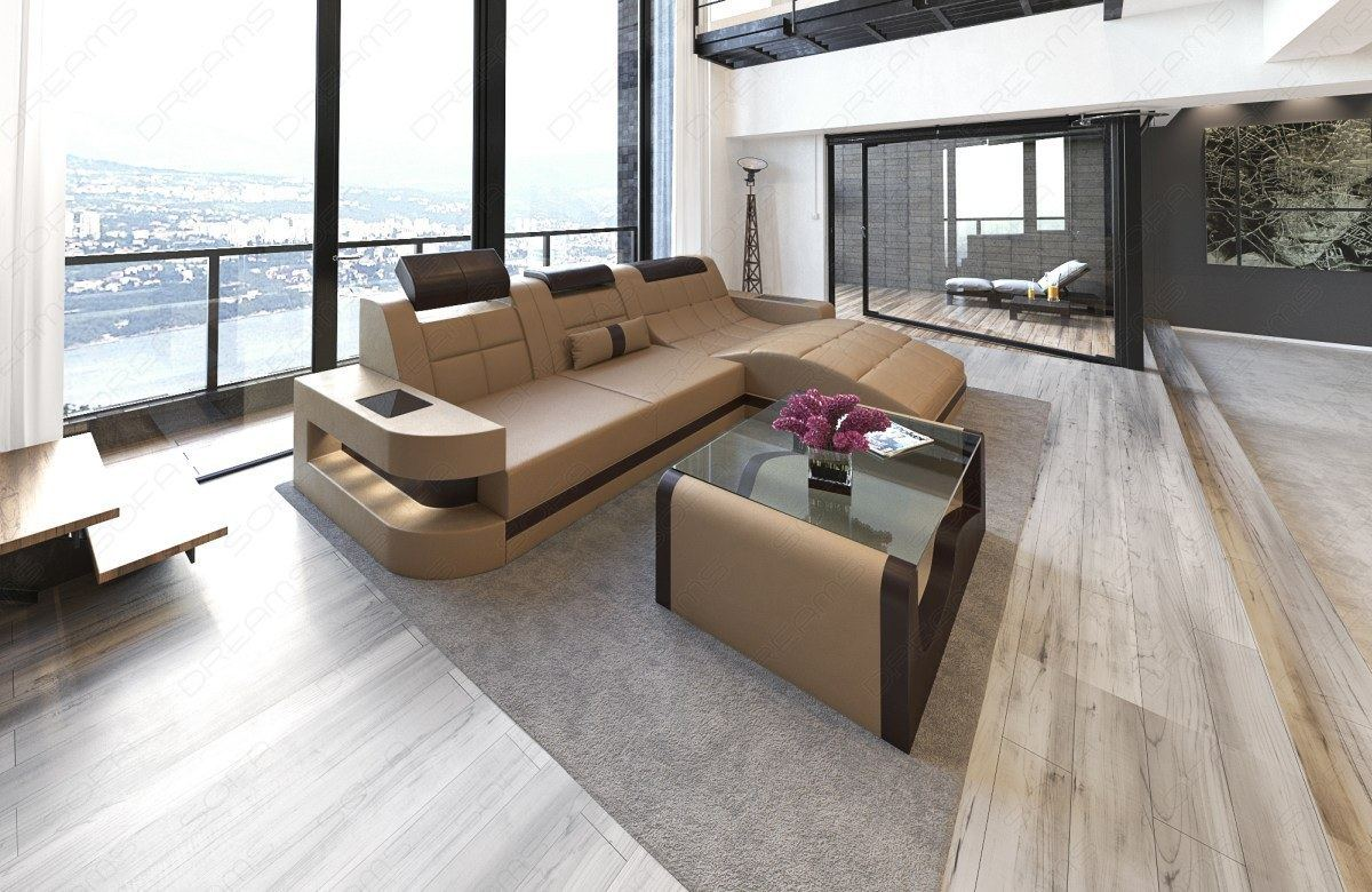 interior design wave l shape led relax sofa corner couch. Black Bedroom Furniture Sets. Home Design Ideas
