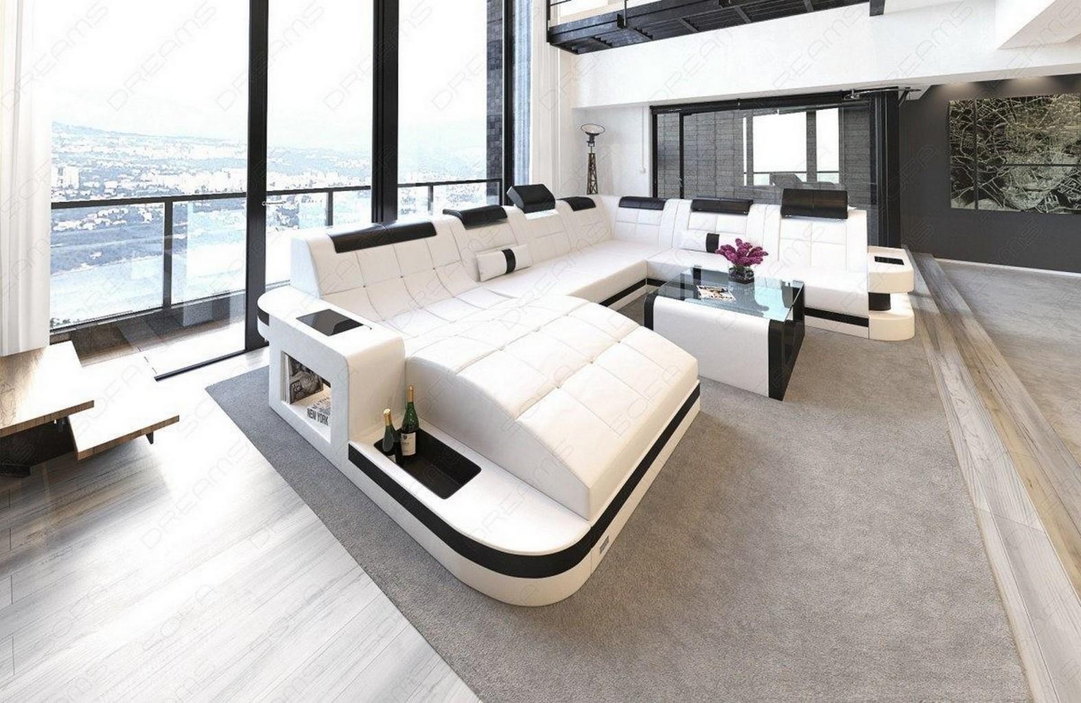 xxl sectional sofa wave modern corner sofa led lights. Black Bedroom Furniture Sets. Home Design Ideas