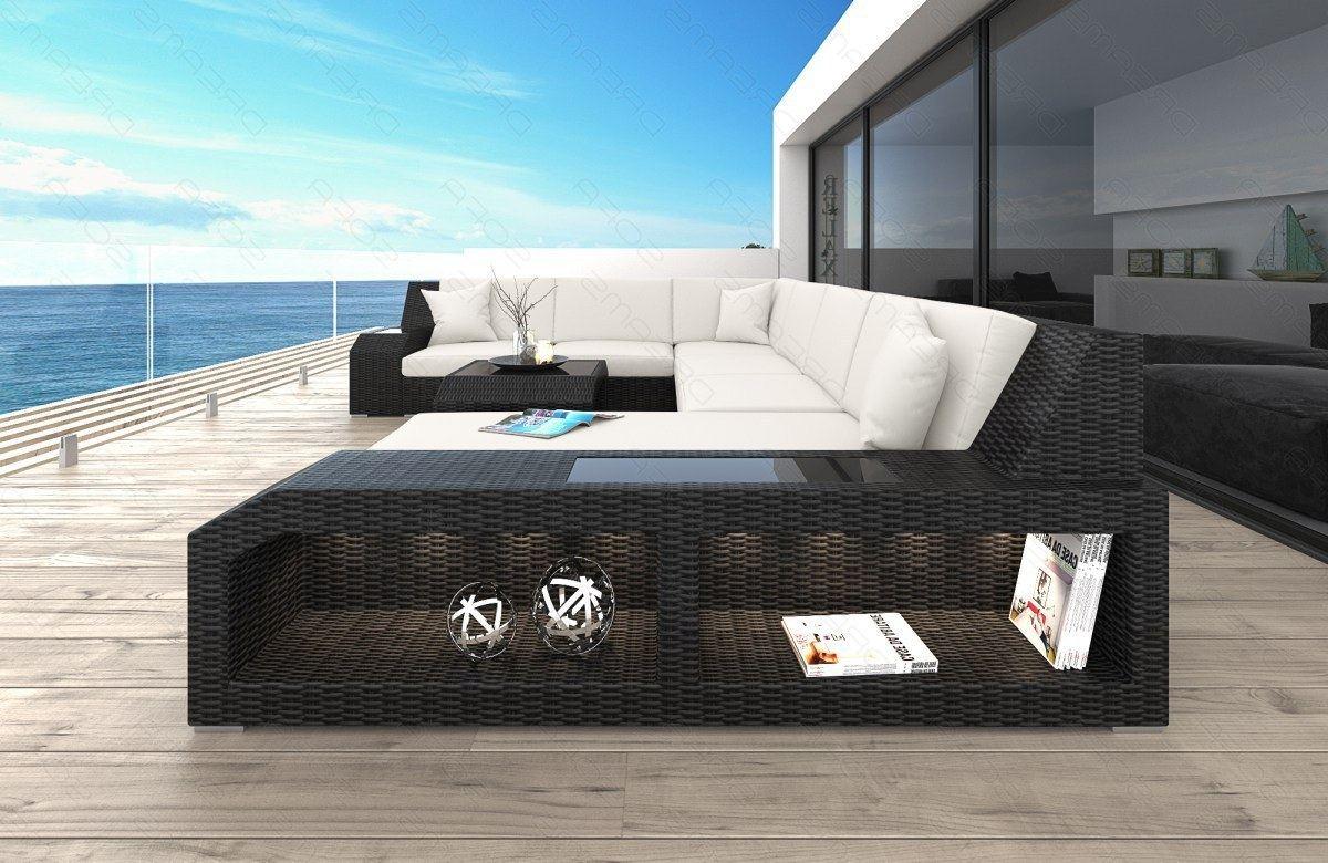 poly rattansofa matera u form gartenm bel set mit led. Black Bedroom Furniture Sets. Home Design Ideas