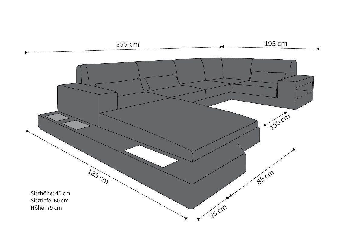 Rattan sofa messana aus rattan in der u form rattan for Wohnzimmertisch l form