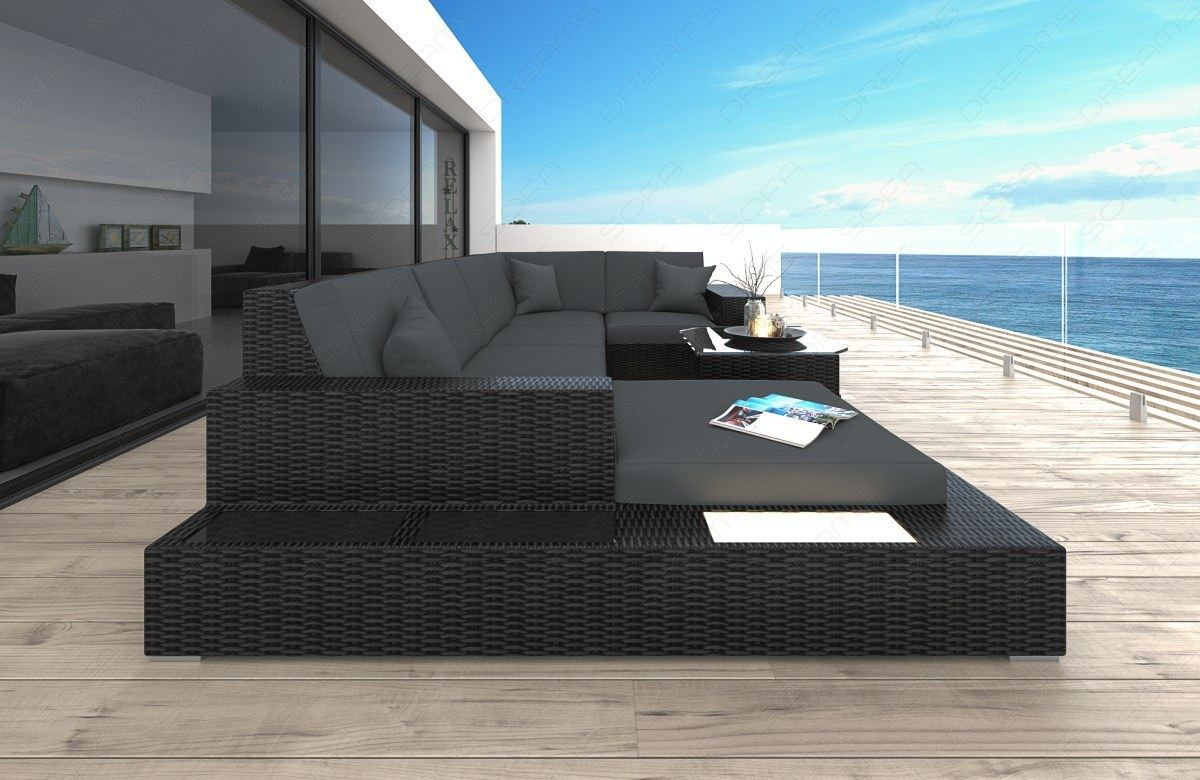 poly rattan lounge sofa set messana wicker patio design sofa indoor. Black Bedroom Furniture Sets. Home Design Ideas