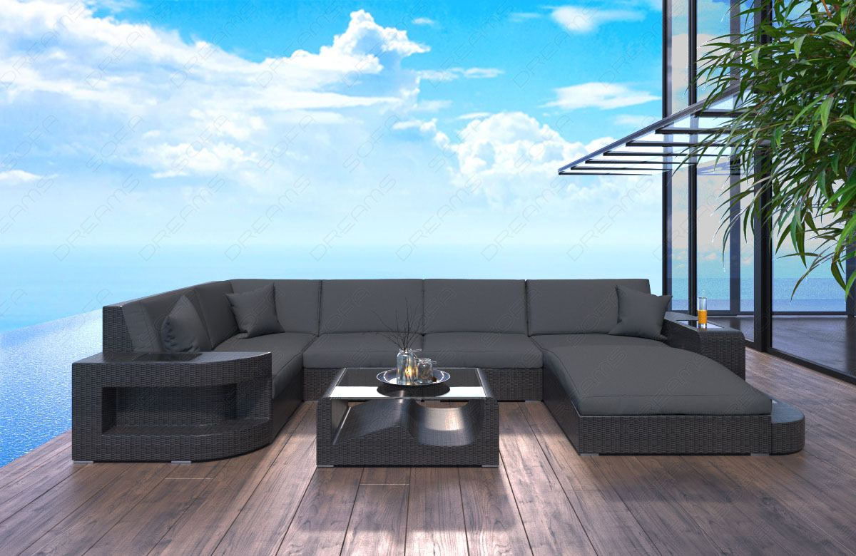 garten lounge mobel grau