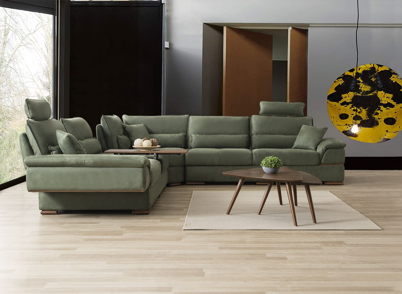 stoff funktionssofa relaxsofa ecksofa design couch trier mit ausfahrbarem tisch ebay
