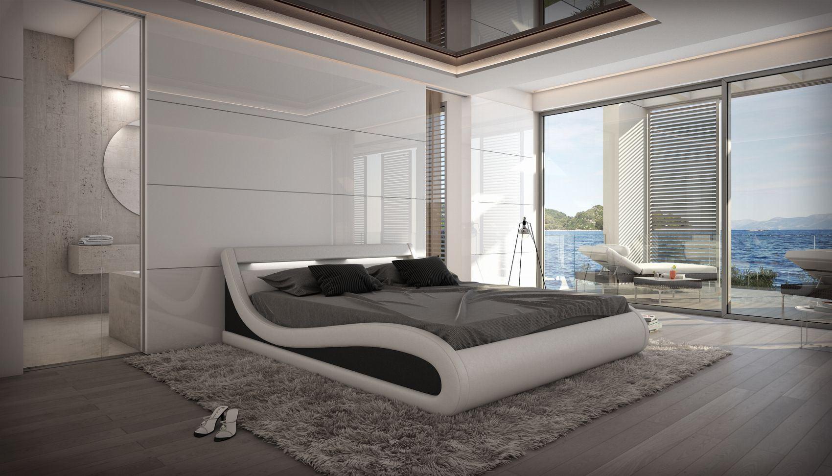 Wasserbett CASERTA Dualsystem Komplettset Softside Design Rahmen | eBay