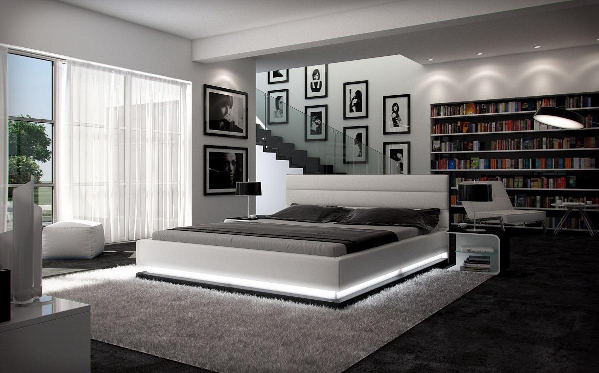 komplettbett moonlight mit licht 7 zonen matratze lattenrost ebay. Black Bedroom Furniture Sets. Home Design Ideas