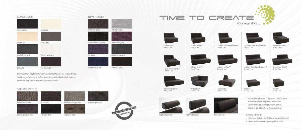 Verfügbare Elemente und Farben
