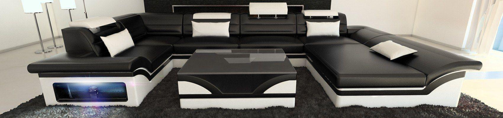 ledersofas u form mit ottomane sofa dreams. Black Bedroom Furniture Sets. Home Design Ideas