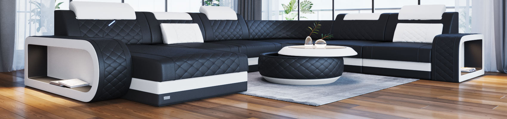wohnlandschaft xxl u oder l form sofa dreams. Black Bedroom Furniture Sets. Home Design Ideas