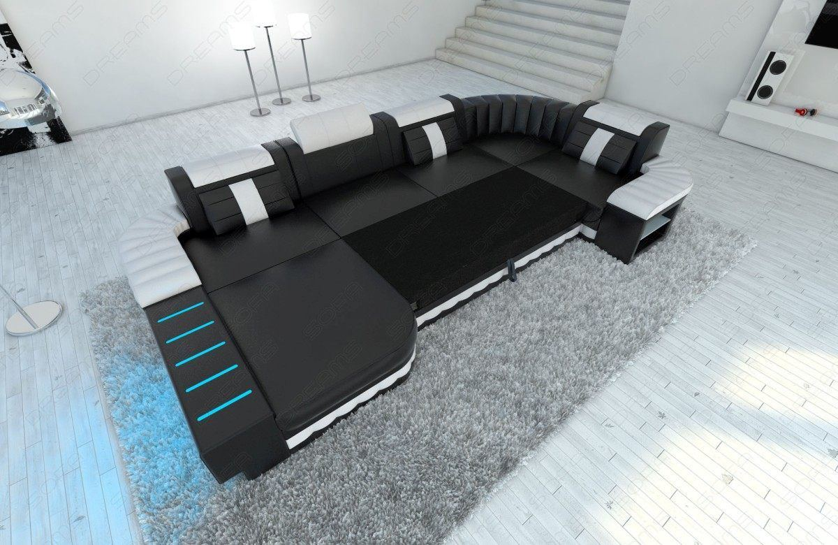 sofas ledersofa designer wohnlandschaft bellagio led u form sofas g nstig online kaufen. Black Bedroom Furniture Sets. Home Design Ideas