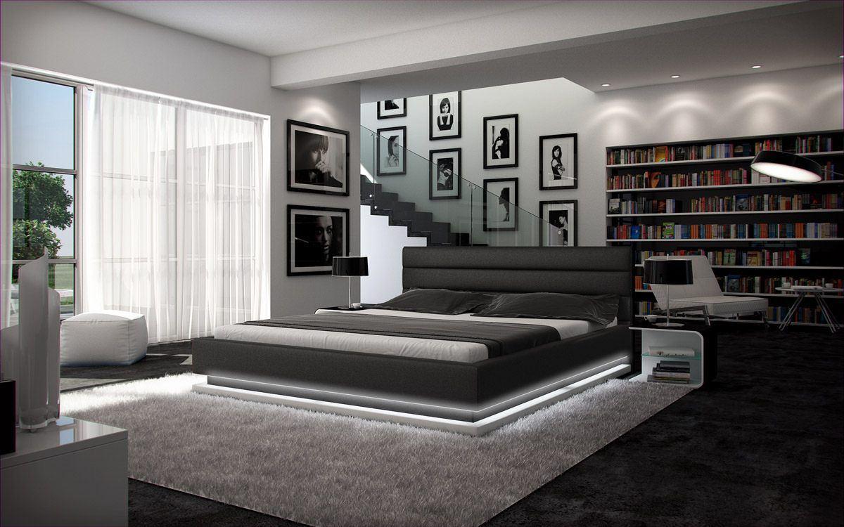 sofas ledersofa designerbett moonlight mit led beleuchtung betten g nstig online kaufen. Black Bedroom Furniture Sets. Home Design Ideas