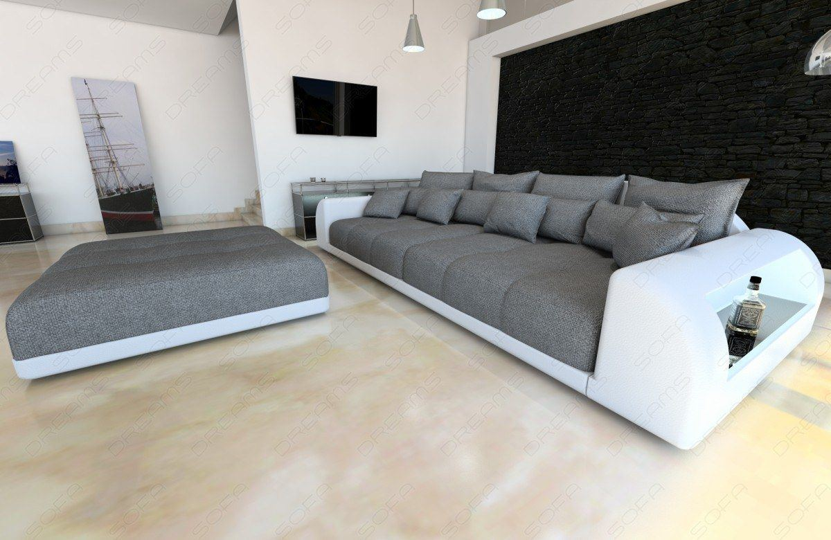 sofa weiss grau couch weiss grau ledercouch weiss grau. Black Bedroom Furniture Sets. Home Design Ideas