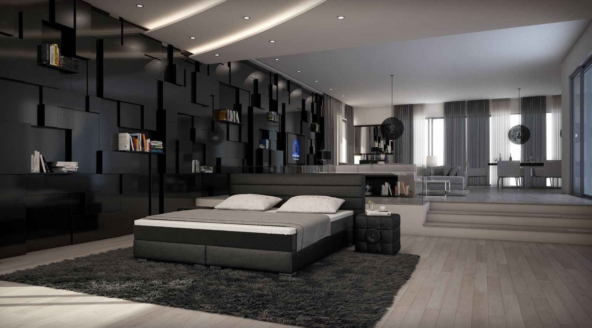 schwarz wohnzimmer:Sofas & Ledersofa