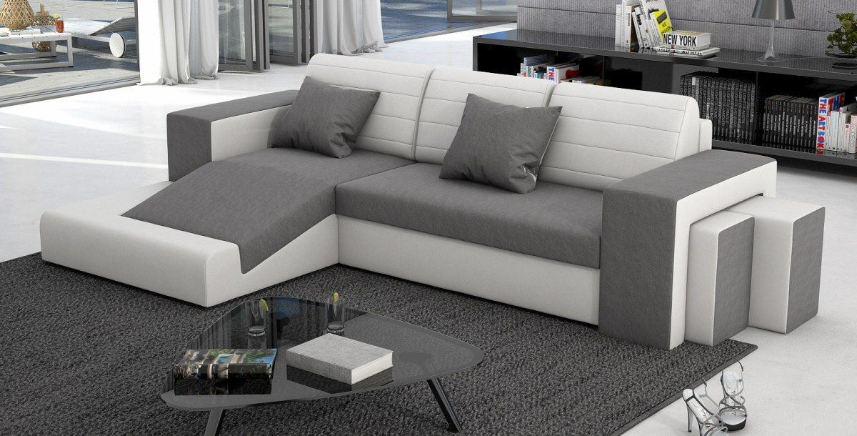 sofas ledersofa leder stoff mix sofa mino sofas. Black Bedroom Furniture Sets. Home Design Ideas