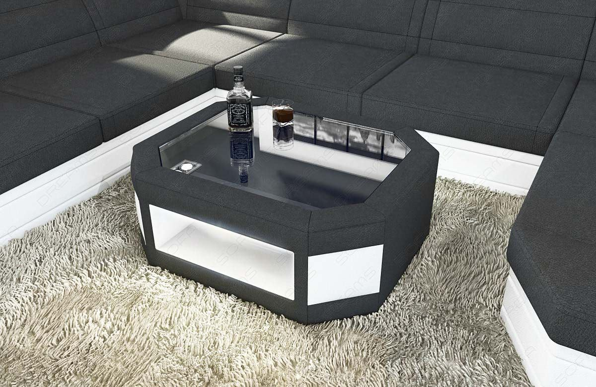 sofas ledersofa couchtisch prato stoff mit led couchtische g nstig online kaufen. Black Bedroom Furniture Sets. Home Design Ideas