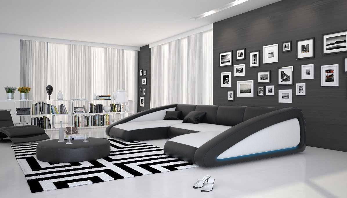 Luxussofa in schwarz-weiss