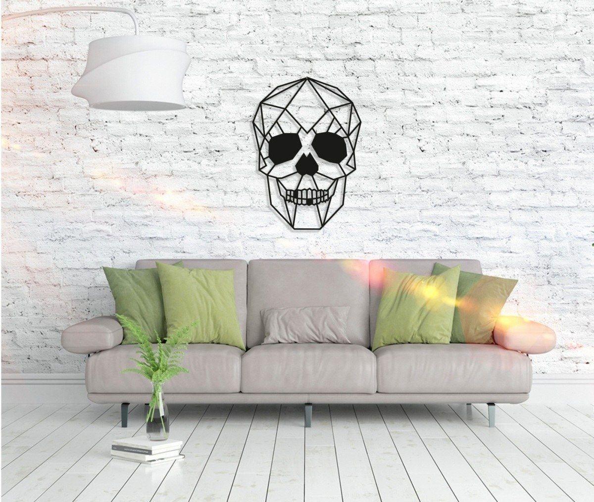Metall Wandbild - Skull