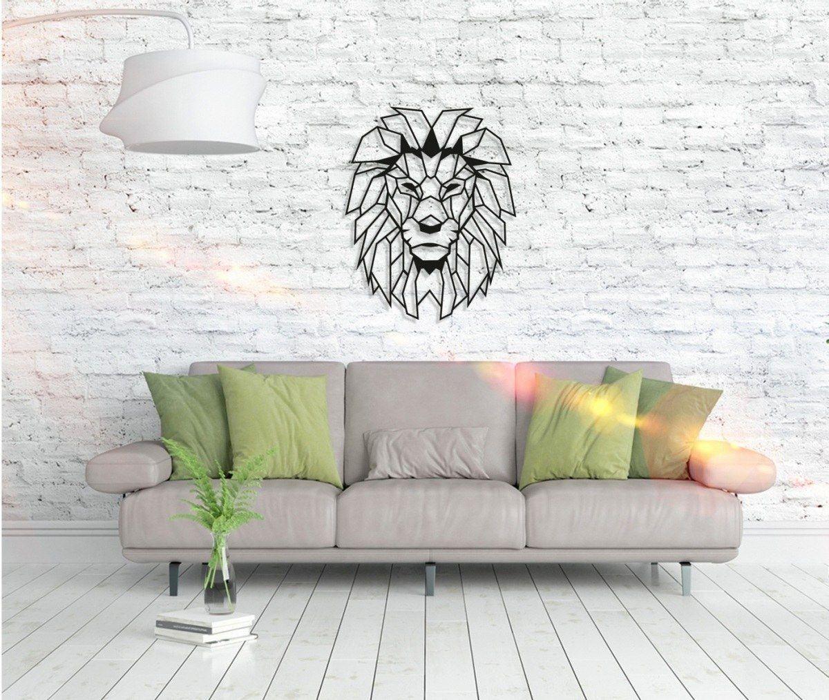 Metall Wandbild - Lion Head