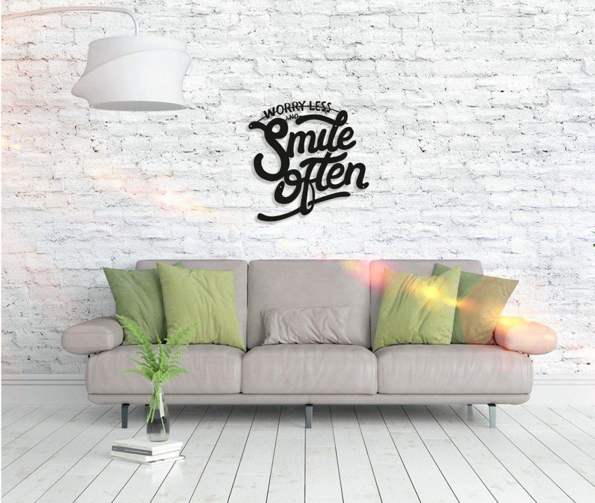 Metall Wandbild - Smile Often