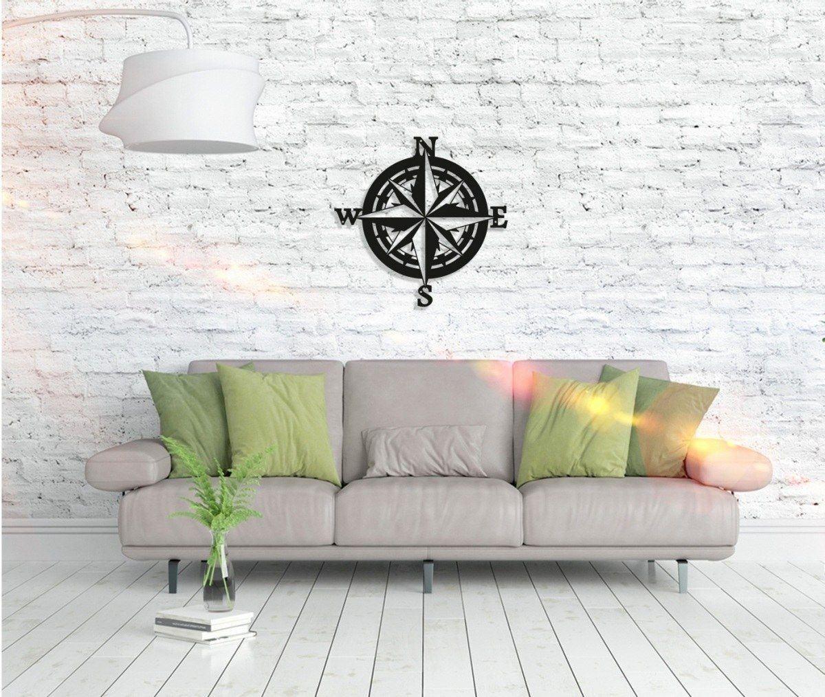Metall Wandbild - Kompass