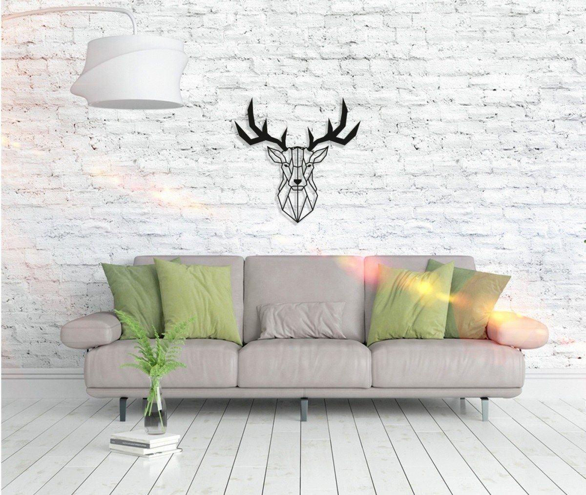 Metall Wandbild - Deer Head