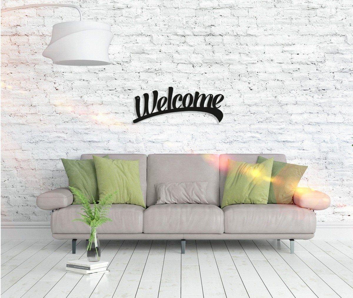Metall Wandbild - Welcome