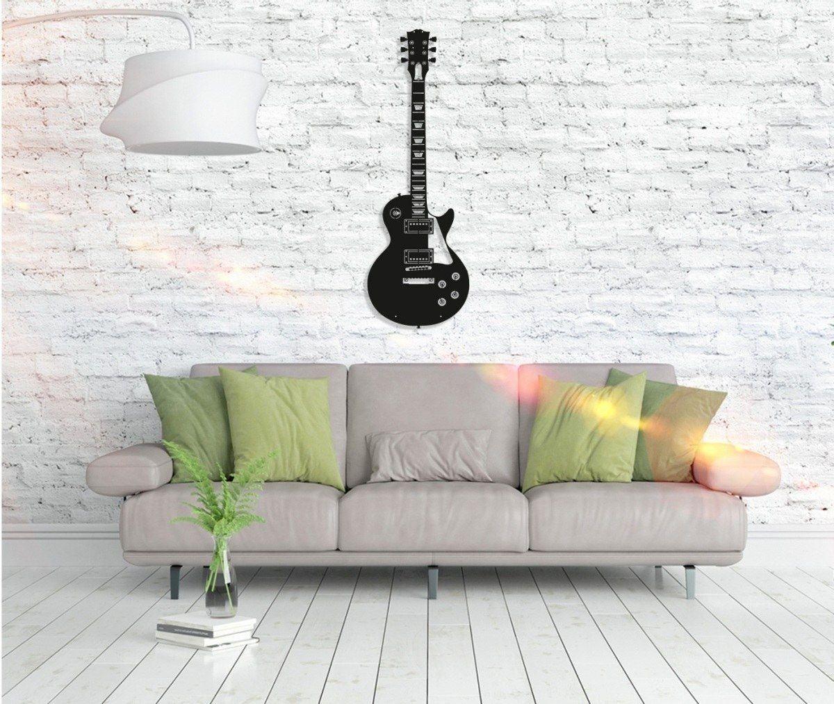 Metall Wandbild - Guitar
