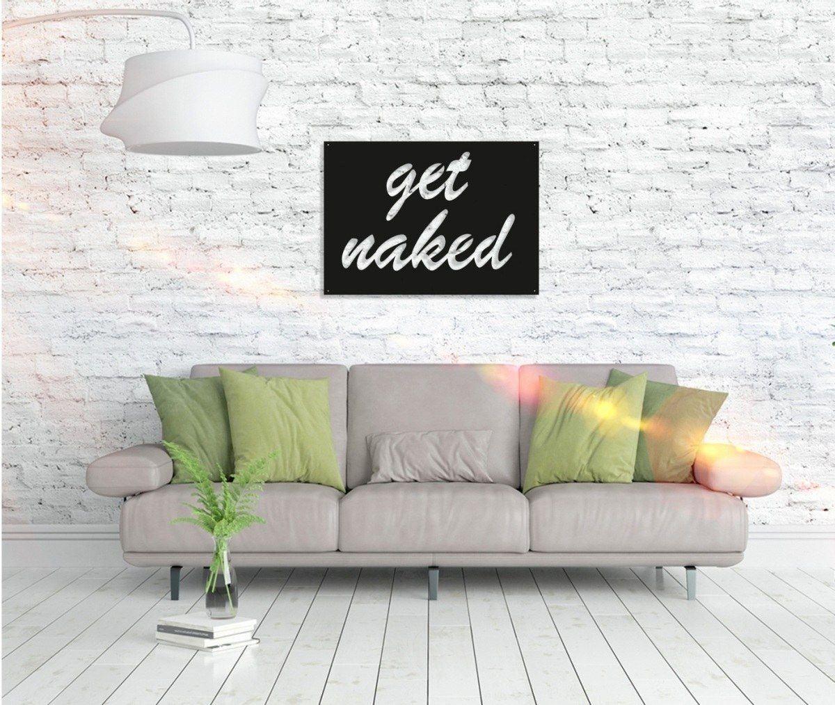 Metall Wandbild - Get Naked