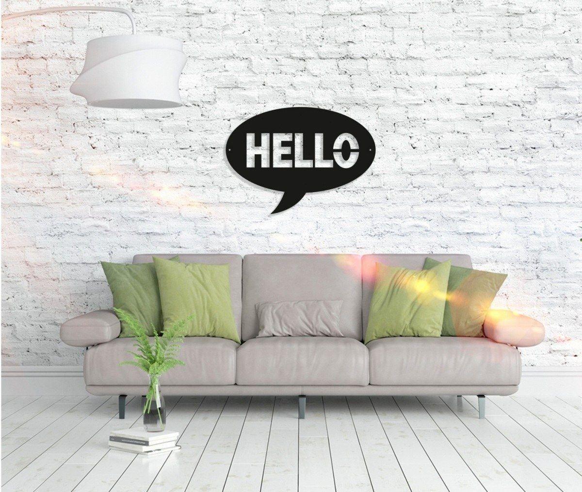 Metall Wandbild - Hello