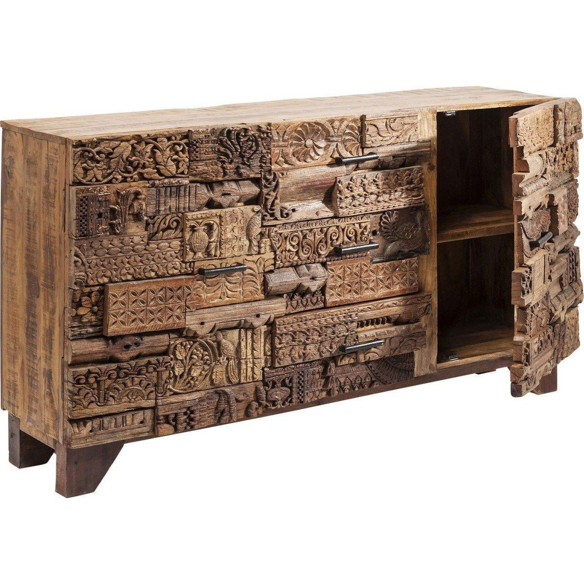 Sideboard geschnitzt Shanti Surprise Puzzle Nature