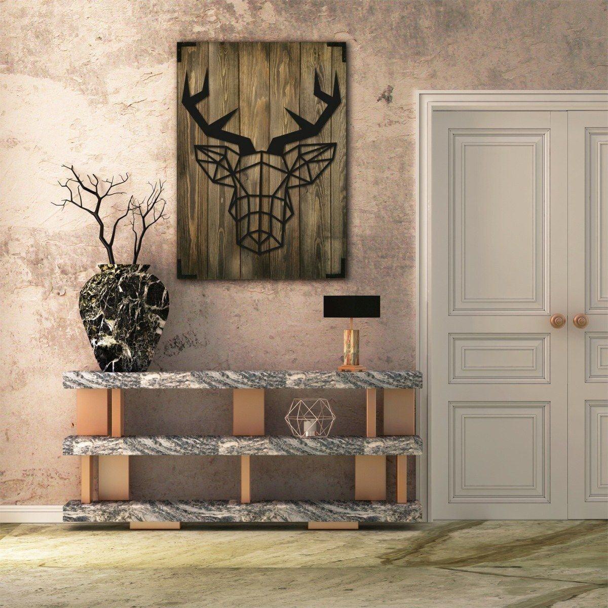 Modernes Holz Wandbild mit Laserdruck.