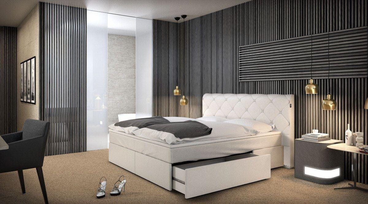 boxspringbett hamburg mit praktischen stauraum. Black Bedroom Furniture Sets. Home Design Ideas
