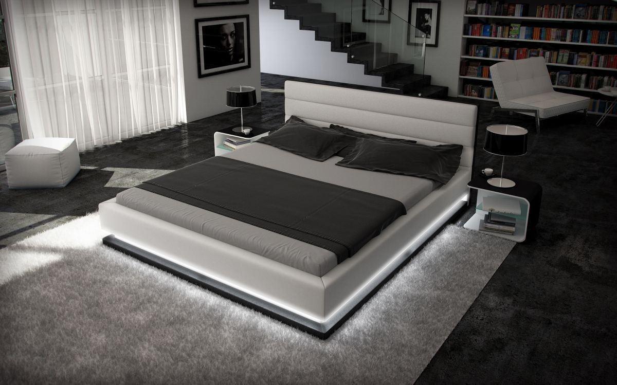 Designerbett MOONLIGHT mit Beleuchtung