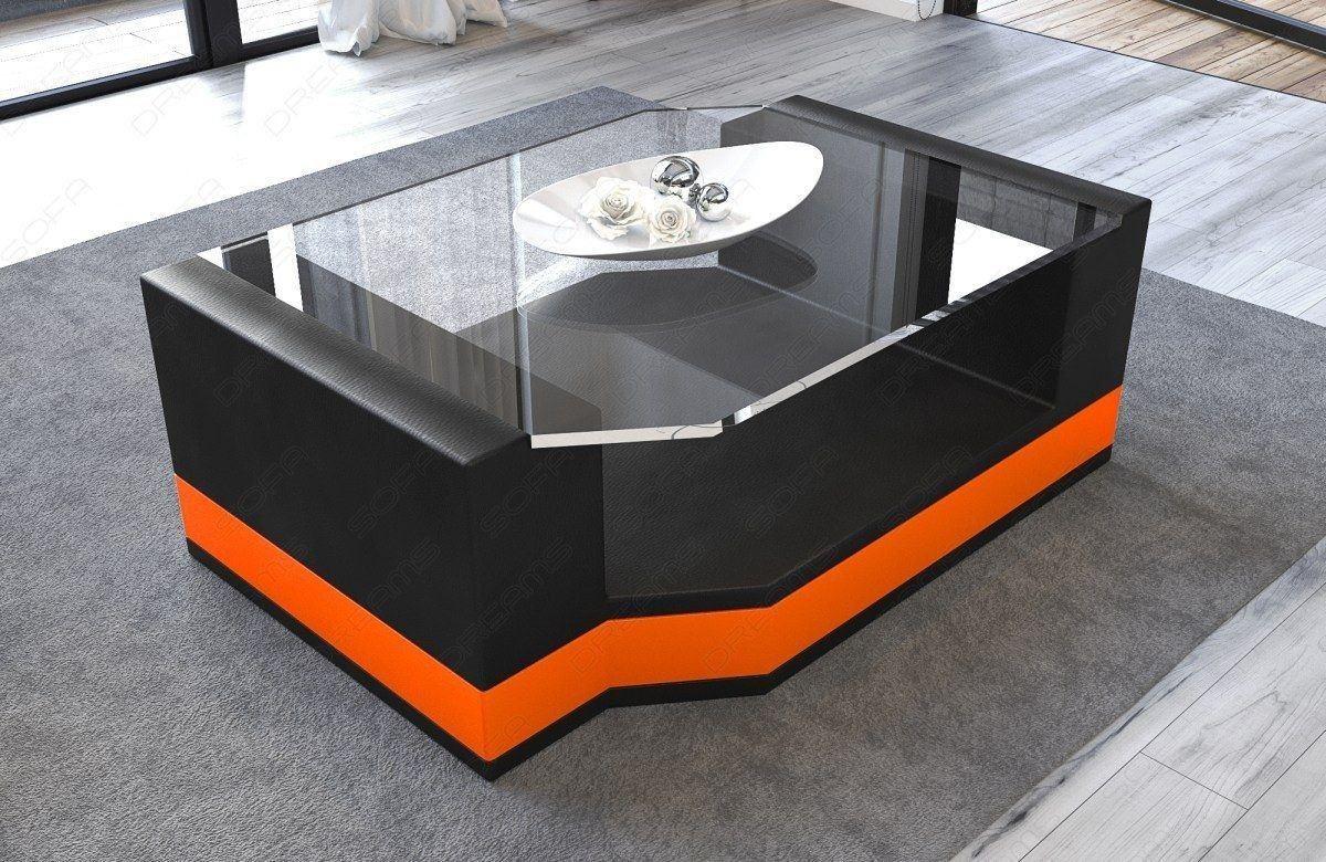 Wohnzimmertisch Messana in den Farben schwarz orange